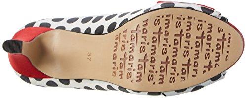 Tamaris 29300, Escarpins Bout Ouvert Femme Multicolore (Blk Dots Comb 026)