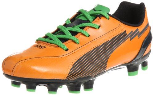 Puma evoSPEED 5 FG Jr 102595, Scarpe da calcio unisex bambino, Arancione (Orange (flame orange-team charcoa 02)), 35
