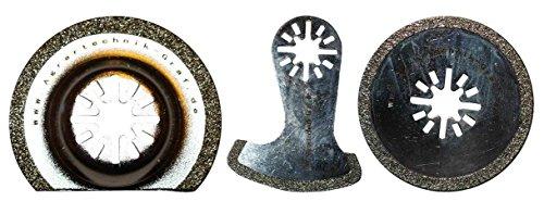 Agrartechnik-Graf Diamant Set 58 mm, 63 mm und 65 mm für Fliesenfugen für Skil Multitool
