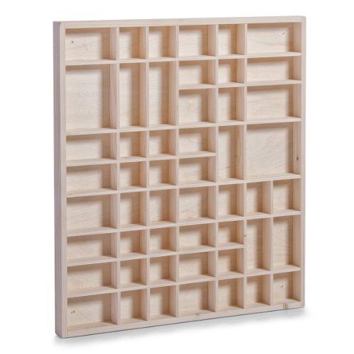 Zeller 12106 armadietto portaoggetti ad alveare, legno, beige, 52x46x3.5 cm