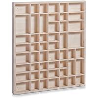 Zeller 12106 Caja Expositora de Pared, Madera, Marrón, 52x46x3.5 cm