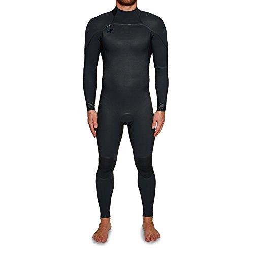 O';Neill Psycho One 3 / 2MM Zurück Zip Wetsuit Schwarz - Easy Stretch & Leicht - Schnell Dry - Anti-Flush Barrier -
