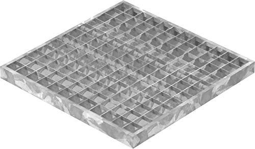 Fenau | Caillebotis (Pour les garages) / Grille conforme aux normes de l'industrie du bâtiment - Dimensions: 390 x 390 x 30 mm - Maillage: 30/30 mm (Cadre: 400 x 400 x 33 mm)