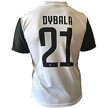 Camiseta Jersey Futbol Juventus Paulo Dybala 21 Replica Autorizado 2017-2018 Niños Adultos (Talla 8 Años)
