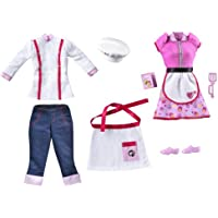 Barbie W3750 - I Can Be... Restaurant Chef & Waitress Outfit Pack for Doll