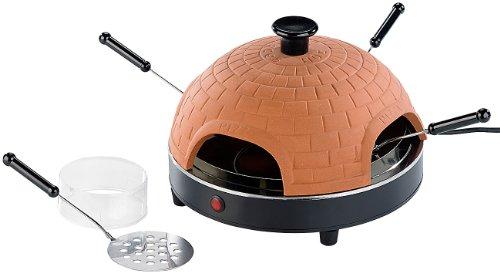 Cucina di Modena Pizzadom: Pizzaofen mit echter Terrakotta-Haube für 4 Personen (Mini Pizza Stein Ofen) (Pizza-stein-ofen)