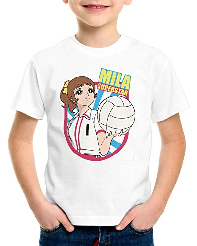 CottonCloud Mila Superstar T-Shirt für Kinder Volleyball Team Japan, Größe:164