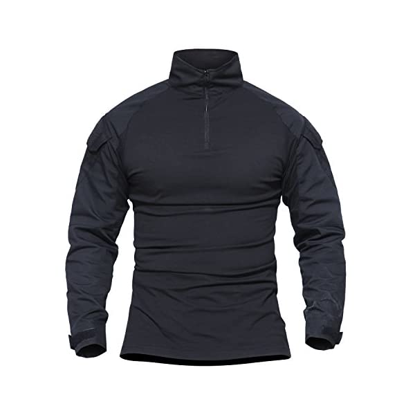 MAGCOMSEN Outdoor Tactical Military Slim Fit T Shirt Long Sleeve with Zipper 2