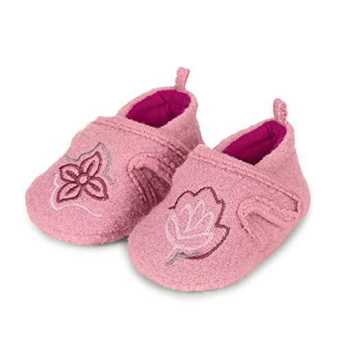 Sterntaler Mädchen Baby-Krabbelschuh Flache Hausschuhe, Rot (Geranie 723), 19-20 EU