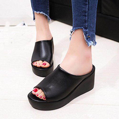 Fashion Flip Flops, Hausschuhe, dicken unteren Füße, Schuhe, Sandalen, Hausschuhe, EU39, Leopard,