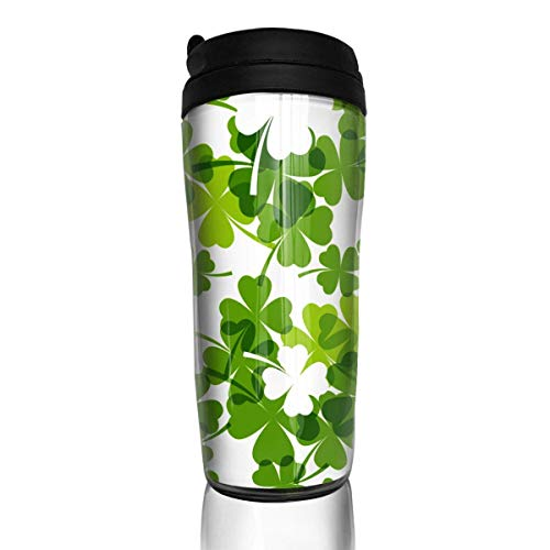 Travel Coffee Mug St. Patrick's Day 12 Oz Spill Proof Flip Lid Water Bottle Environmental Protection Material ABS