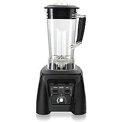 Blender professionnel Alma noir - Mixeur/Blender 2L + 1,2 L offert sans bisphénol pour préparation de soupes, smoothies, crèmes glacées, purées, pains, laits végétaux.
