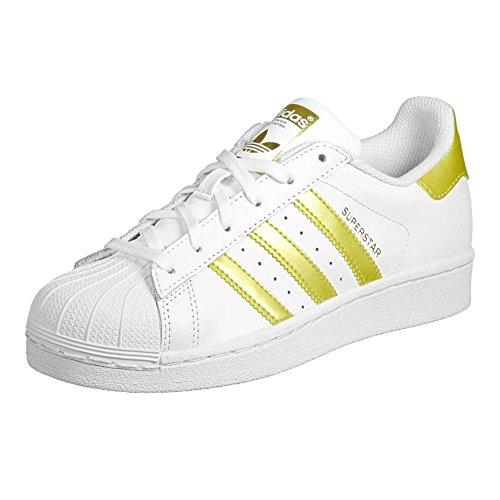 Adidas Sneaker Women SUPERSTAR Weiß Gold