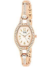 Watch Me Analog White Dial Stainless Steel Metal Strap Girls And Women's Watch WMAL-129qeazy1