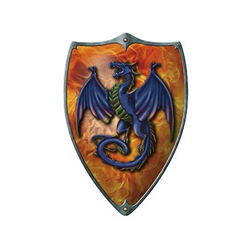 Preisvergleich Produktbild Koakid Kinder Ritterschild Feuerdrache Schild Zubehör Ledergriffe