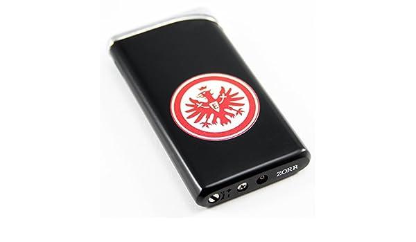 Eintracht Frankfurt Metall Feuerzeug schwarz Lighter black Eintracht