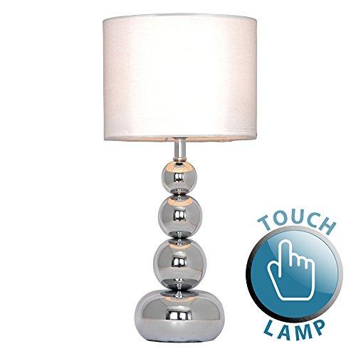 MiniSun - Lampada da tavolo moderna, cromata lucida e touch - per il ...