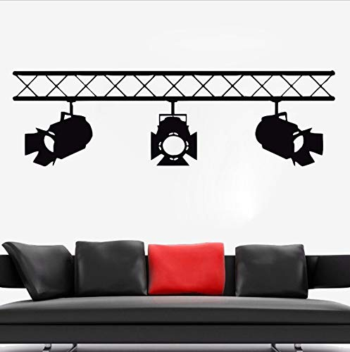WFYY Vinyl Aufkleber Wandstrahler Stil Wandkunst Removable Filmdekoration Kino Filme Rampe Spot Dekoration 141X42 cm