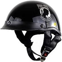 ZHYY Casco Harley Retro, Cascos Harley Half Face Certificación Dot Moda Vintage Motocicletas Cascos para