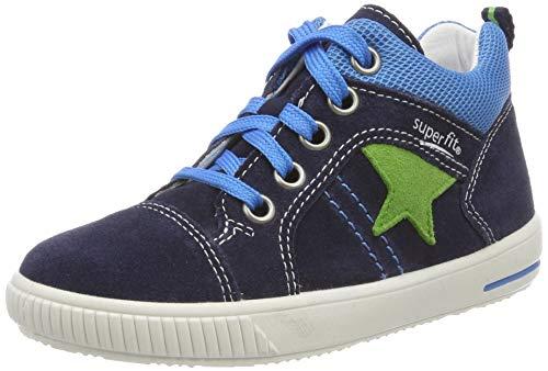 Superfit Baby Jungen Moppy Sneaker, (Blau 80), 21 EU