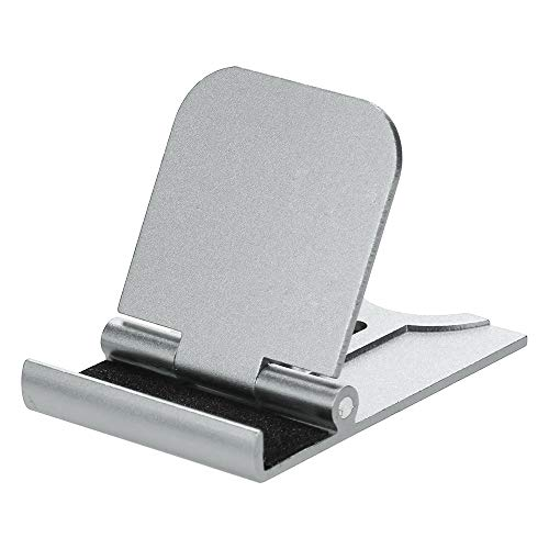 Wawer Platz Handyhalterung tragbar Telefon Halterung Mobiler Support Halterung Telefon Metall Smartphone Stents Handyhalter (Silber)