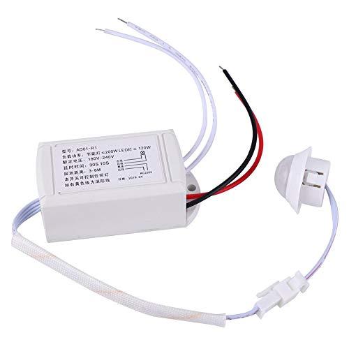 180V-240V Infrarot Sensor Schalter,Infrarot Lichtsteuerung IR Sensorschalter Bewegungsmelder Schalter IR-Infrarotsensor für Birnen-LED-Lampe -