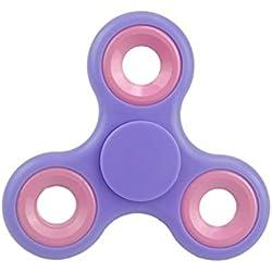 Fidget Hand Spinner con anillos de colores surtidos - Juguetes de alivio de estrés - Novedad Juguetes (LILA ANILLOS ROSA)