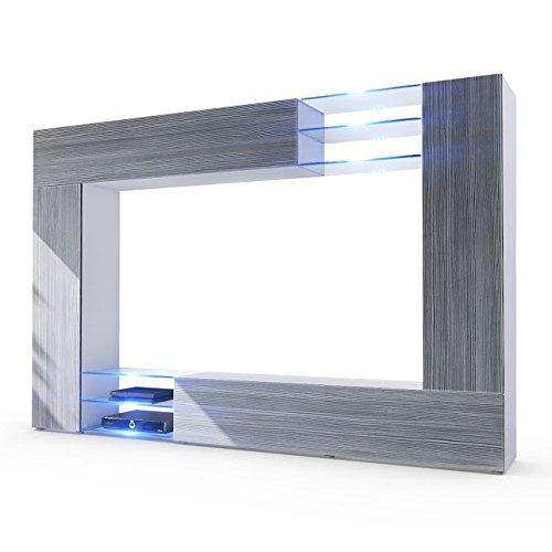 Parete porta tv moderna modello wast finitura avola antracite