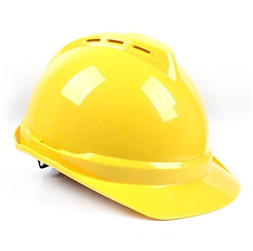 STEAM PANDA Schutzhelm-ABS Material V-Typ Flut-Verhinderungs-Bau-Sturzhelm Breathable Technik-Sturzhelm,Yellow