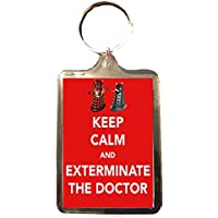 Doctor Who - Keep Calm Keyring (Exterminate the Doctor)