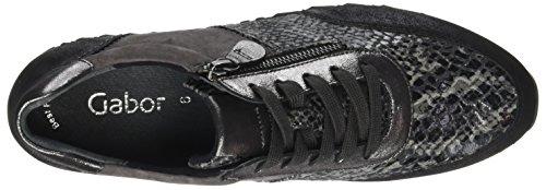 Gabor Shoes Gabor Casual, Derbys Femme Gris (67 Anthrazit Kombi)