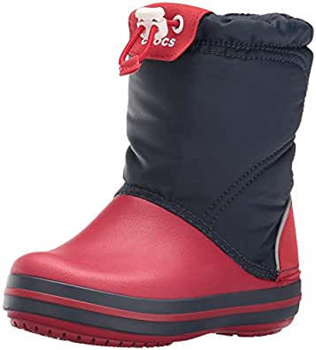 crocs Crocband LodgePoint Boot Kids, Unisex - Kinder Schneestiefel, Blau (Navy/Red), 34/35 EU