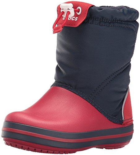 Crocs cbndlodgeptbtk, sneaker a collo alto unisex – bambini, blu (navy/red), 28-29 eu