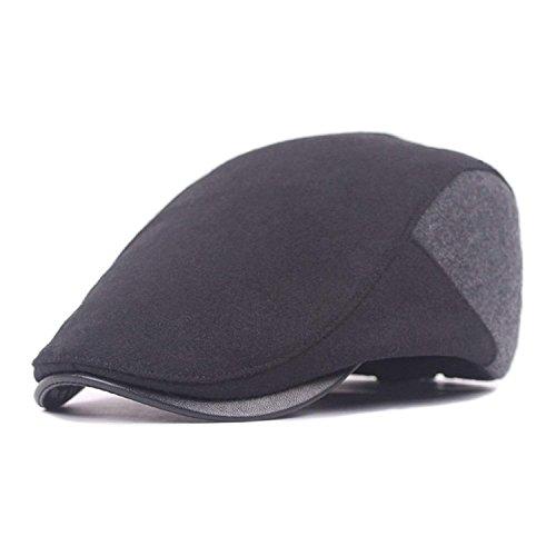 7ba25f190de72 Ambysun Men Cotton Washing Flat Cap Cabbie Hat Gatsby Ivy Caps Irish  Hunting Hats Newsboy with