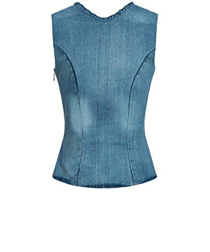 Almsach - Damen Jeans 100% Baumwolle Trachten Mieder Corsage Blau - 42 - 2