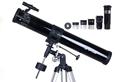Telescopio Opticon Zodiac 450x zoom reflector, 76x 900espejo telescopio + libro educativo y cielo Mapas