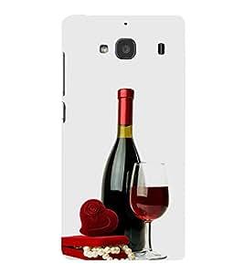 FUSON Red Wine And Pearls 3D Hard Polycarbonate Designer Back Case Cover for Xiaomi Redmi 2 :: Xiaomi Redmi 2S :: Xiaomi Redmi 2 Prime