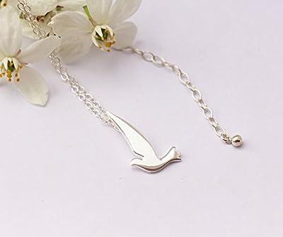 Collier oiseau en argent massif 925, bijou élégant et raffiné, bijoux oiseaux