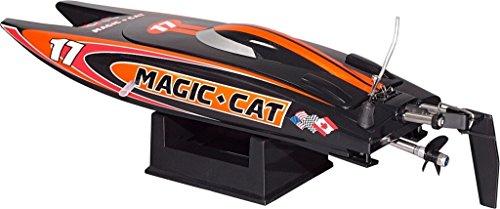RC 2,4 Ghz. Rennboot MAGIC CAT V3 Speedboot ferngesteuertes Schiff Boot NEU RTR Wassergekühlter Motor, bis zu 25 km/h, Komplettset