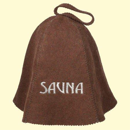Preisvergleich Produktbild Saunahut mit *SAUNA* Stickerei,  aus Filz (Filzkappe,  Saunamütze) 100%Filz Profi