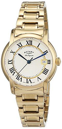 Rotary LB90143/03 - Reloj de pulsera mujer, acero inoxidable, color dorado