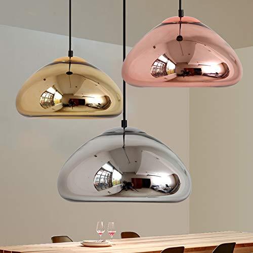 HBLWX Mundgeblasenes Glas Anhänger Beleuchtung sphärische Vintage Mini Typ Lampe Küche Lampen eingebettet Kronleuchter für Wohnzimmer Küche Flure Cafe 3piece,S -
