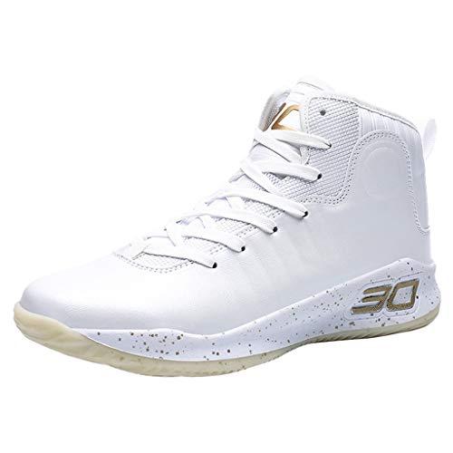 Sayla Zapatos Casual Moda De Los Hombres Verano Casa Zapatillas Transpirables Amortiguadores con Cordones CláSicos Antideslizante Zapatillas Ligeras CóModo Zapatillas De Baloncesto