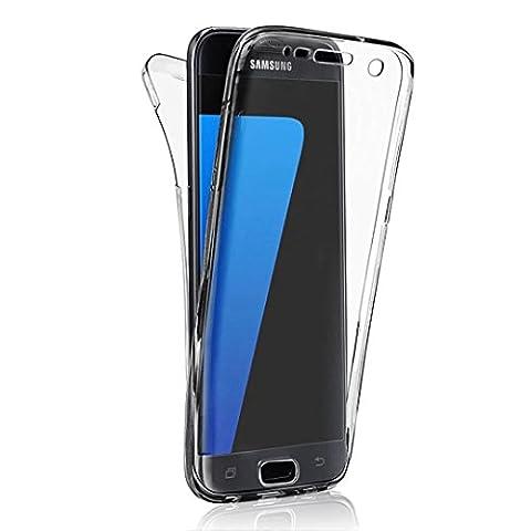 Coque Full Protecion Samsung Galaxy S3 / S3 NEO 360° INTEGRAL Silicone Transparent Etui TPU Gel Souple Intégral Avant Arrière Protecteur Anti-Choc Housse Sunroyal® Ultra Mince Case Cover de Bumper Invisible pour Samsung Galaxy S3 I9300 / S3 Neo I9305 - Noir