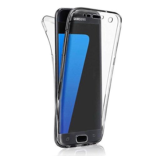 Coque Full Protecion Samsung Galaxy S4 360° INTEGRAL Silicone Transparent Etui TPU Gel Souple Intégral Avant Arrière Protecteur Anti-Choc Housse Sunroyal® Ultra Mince Case Cover de Bumper Invisible pour Samsung Galaxy S4 I9500 I9505 - Noir