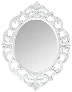 Buy Kole White Oval Vintage Wall Mirror Online At Low