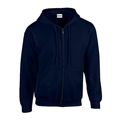 Gildan - Kapuzen Sweat-Jacke 'Heavyweight Full Zip' S,Navy Zip-jacke Navy