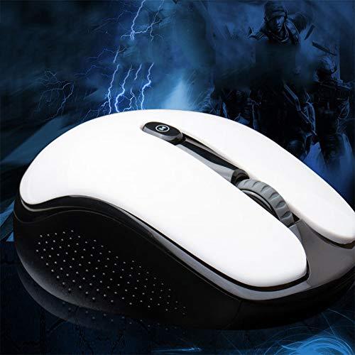 ZLC V5 Drahtlose Maus, Ultraleise Ergonomische Mobile Maus Mit USB-Schnittstelle Für Office-Spiele Zu Hause Maus,White - White Mobile Maus