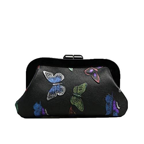 Weiblich Damentasche Chinesischen Stil Retro Erste Schicht Ledertasche Geprägte Mode Weibliche Handtasche Handy Leder Weiblichen Geldbeutel Griff Tasche (Farbe : 1, Größe : 30 * 17 * 6cm) - Geprägte Mode Handtasche