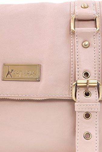 """Umhängetasche """"Abbey Road"""" aus Leder von Catwalk Collection Rosa"""